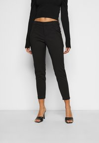 Vero Moda Petite - VMVICTORIA ANTIFIT ANKLE PANTS  - Trousers - black - 0