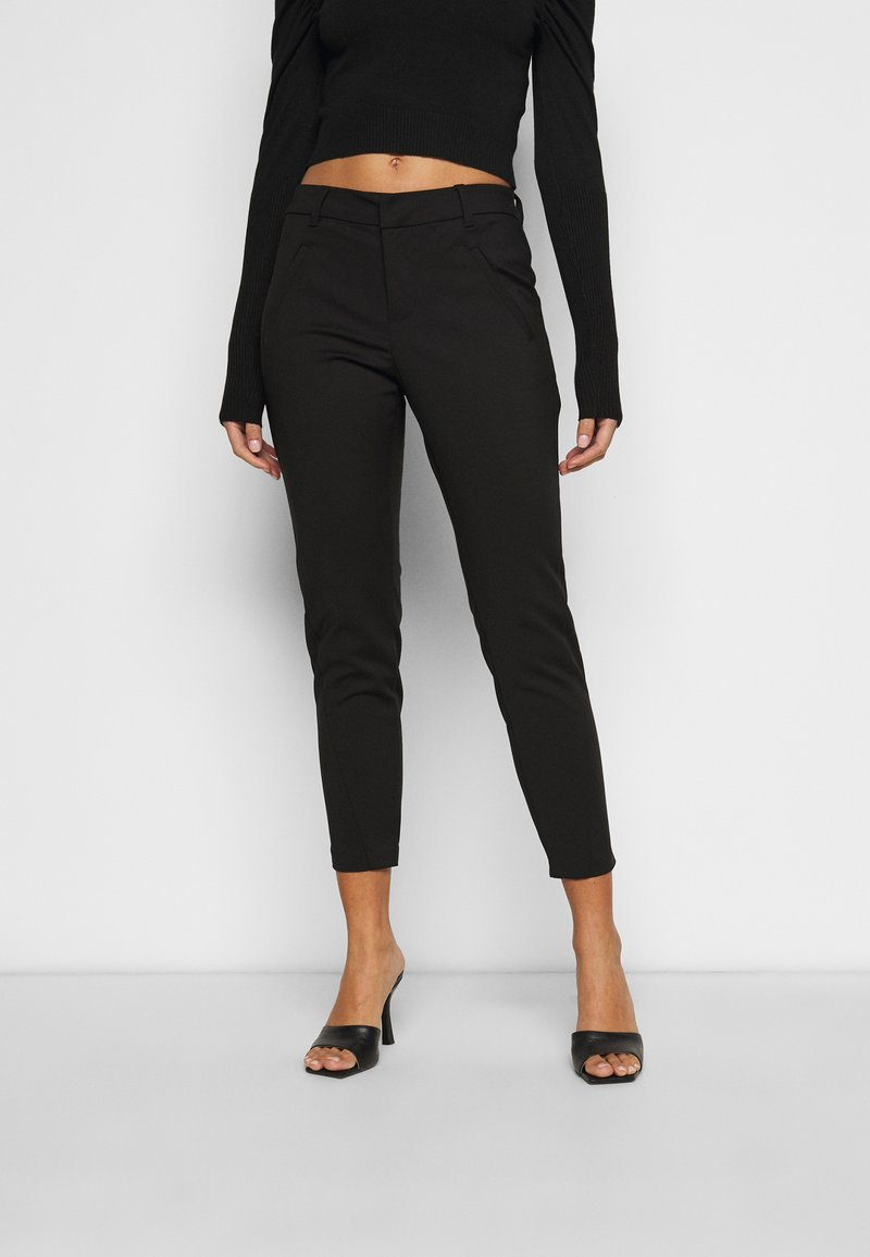 Vero Moda Petite - VMVICTORIA ANTIFIT ANKLE PANTS  - Trousers - black