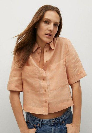 JENI - Button-down blouse - oranje