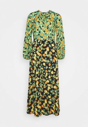 GATHERED NECK A LINE DRESS - Maxi dress - green