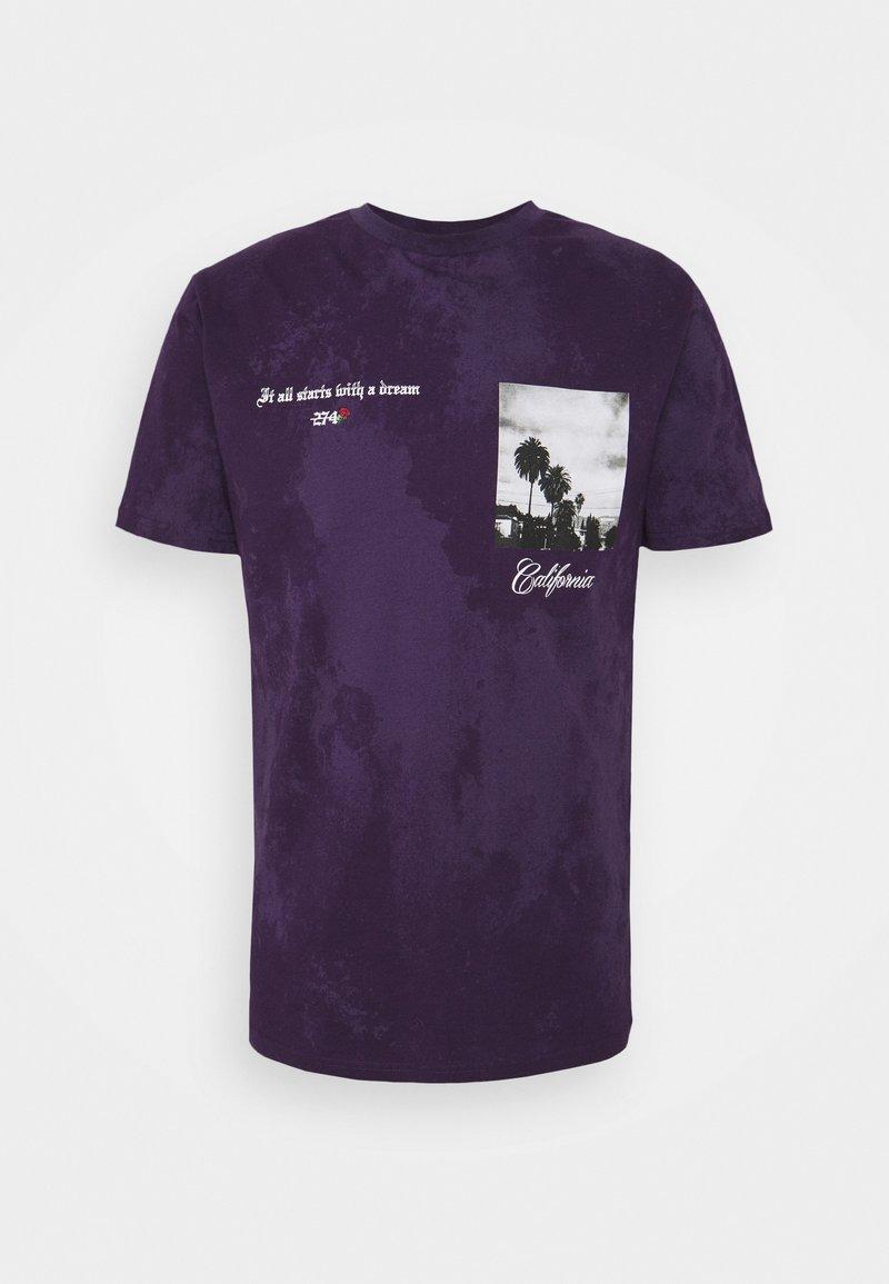 274 - TIE DYE TEE - Triko spotiskem - purple