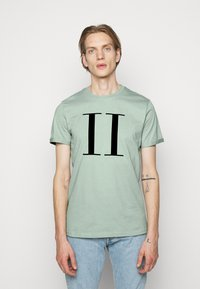 Les Deux - ENCORE  - Print T-shirt - iceberg green/navy blue - 0