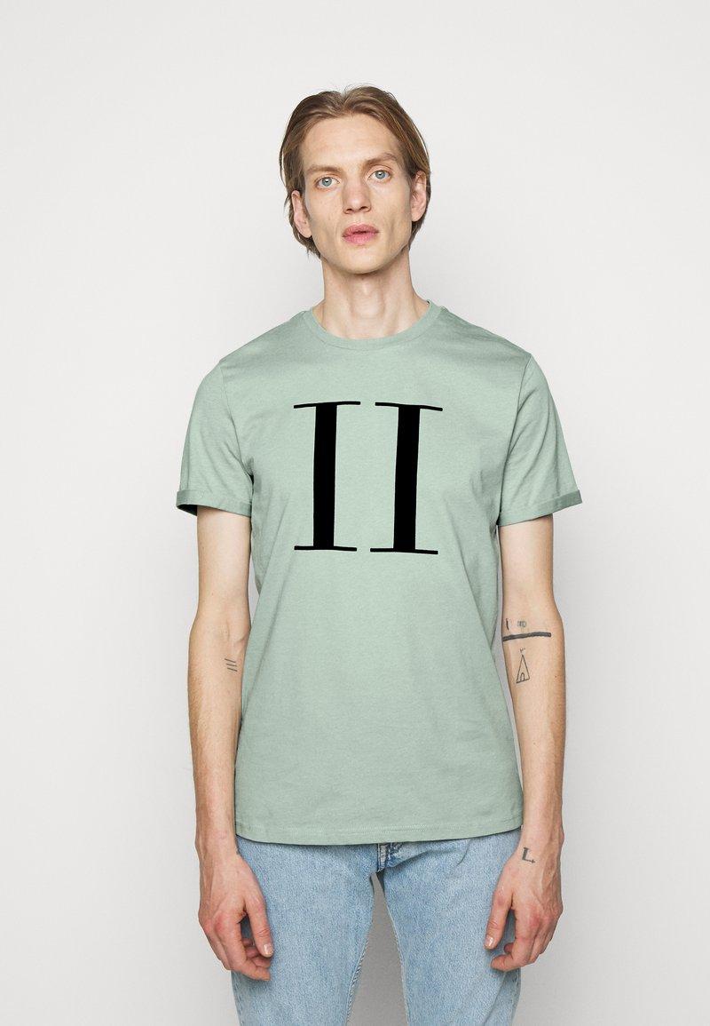 Les Deux - ENCORE  - Print T-shirt - iceberg green/navy blue