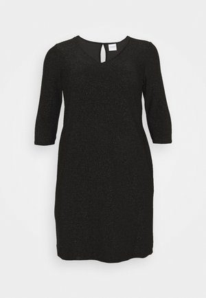 JRSAKINA ABOVE KNEE DRESS - Jersey dress - black