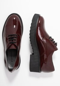 Bianco - BIACASS CHUNKY LACED UP DERBY - Lace-ups - winered - 3