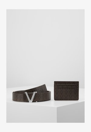 CRUP BELT AND WALLET HOLDER SET - Belt - moro/nero