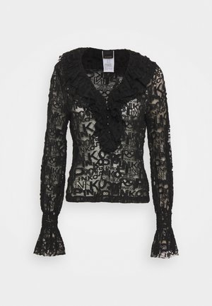 HIERROS BLUSA LOGATO - Long sleeved top - black