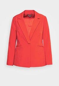 Simply Be - PRESS BLAZER STYLE - Krátký kabát - tomato red - 4