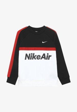 CREW - Sweater - black/white/university red