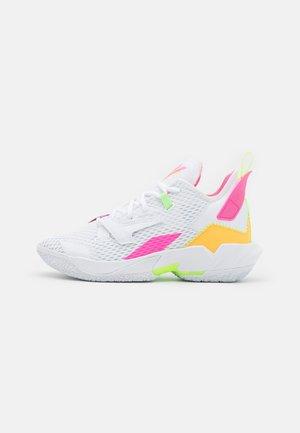 WHY NOT ZER0.4 BG UNISEX - Obuwie do koszykówki - white/citron pulse/hyper pink/lime glow