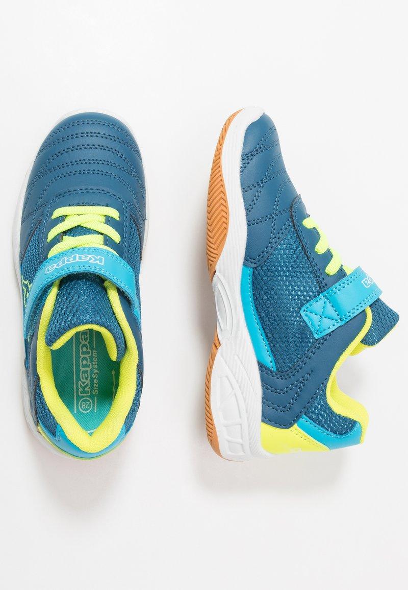 Kappa - DROUM II UNISEX - Sports shoes - blue/yellow