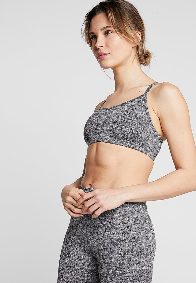 WORKOUT YOGA CROP - Sports bra - salt & pepper