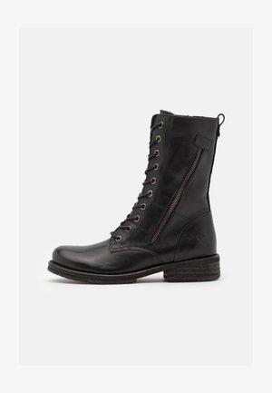 COOPER - Šněrovací vysoké boty - black