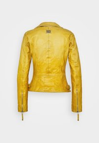 Freaky Nation - BIKER PRINCESS - Leather jacket - halo yellow - 7