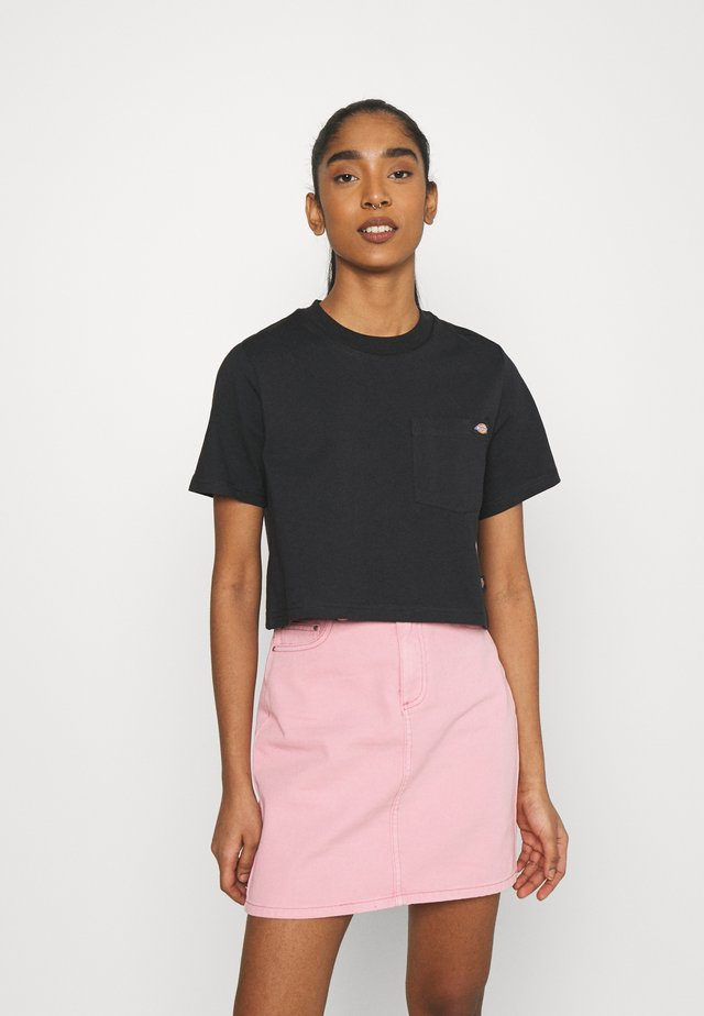 PORTERDALE CROP - T-shirt basique - black