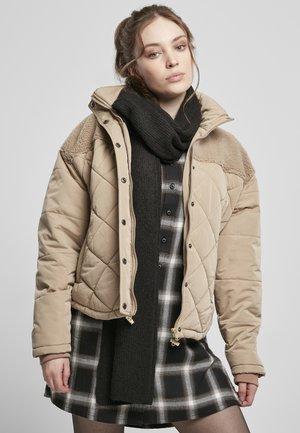 Gewatteerde jas - softtaupe
