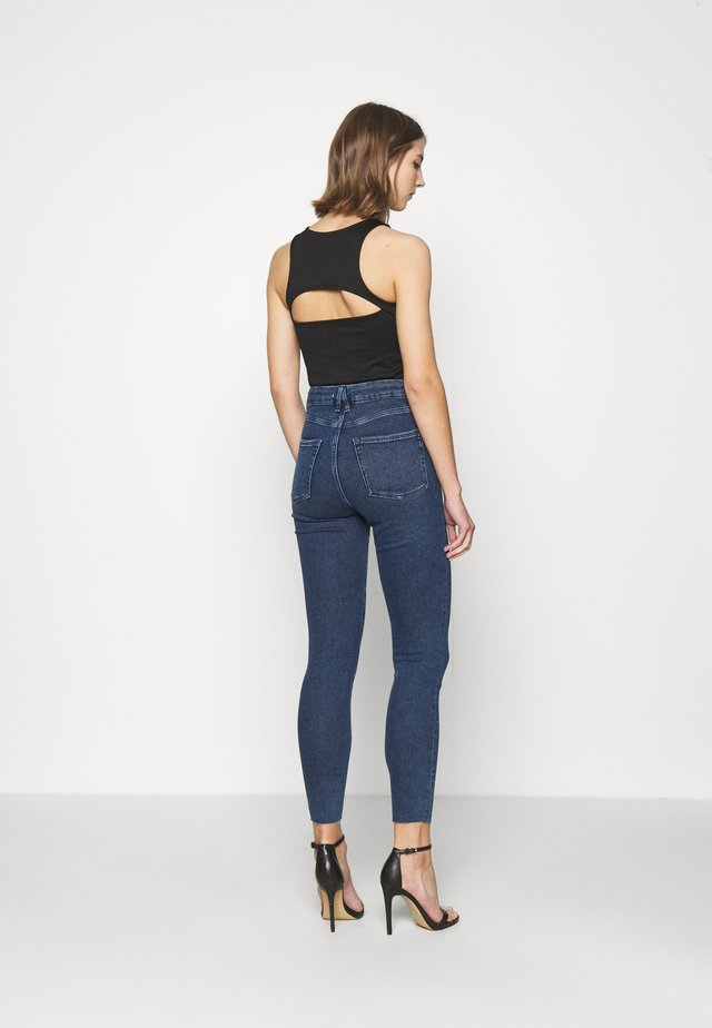 WAIST RAW EDGE - Jeans Skinny Fit - blue