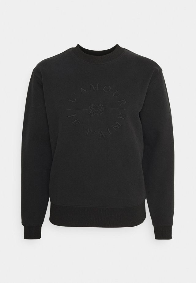 SLOAN SLOGAN L'AMOUR - Sweatshirt - black