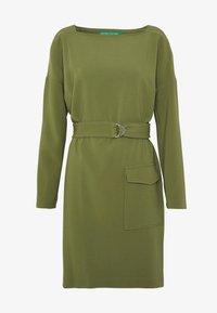 DRESS - Shift dress - khaki