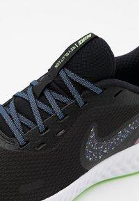 Nike Performance - REVOLUTION 5 - Neutral running shoes - black/metallic dark grey/plum dust/royal pulse/ghost green/white - 5