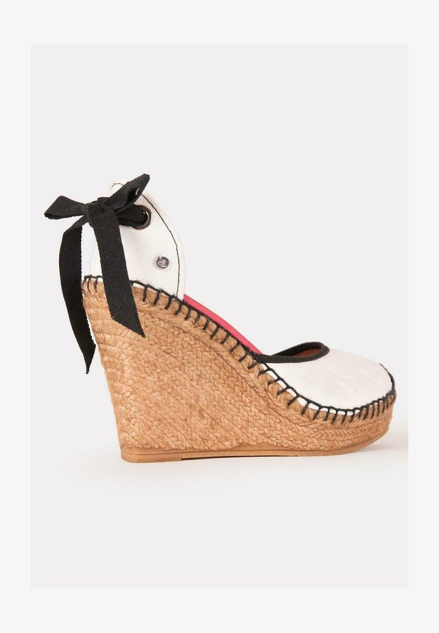 Sandalias de tacón - blanco