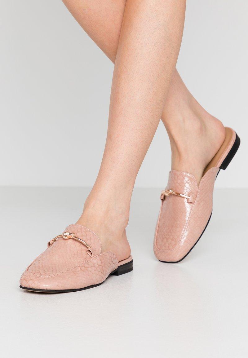 Topshop - ADA MULE LOAFER - Mules - pink