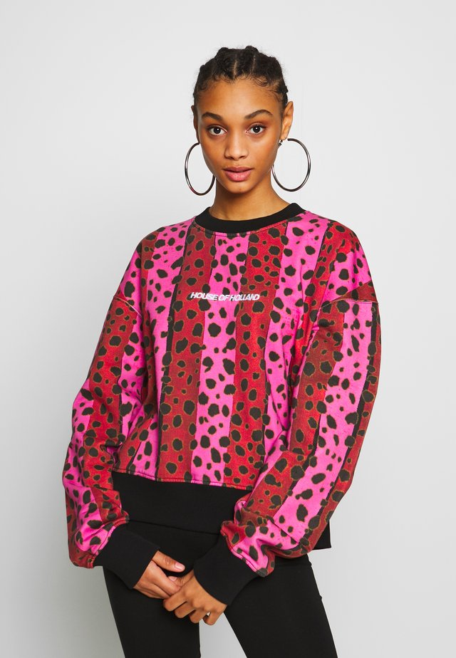 NEON STRIPE CHEETAH - Sweatshirt - pink multi
