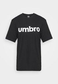 Umbro - LINEAR LOGO GRAPHIC TEE - Print T-shirt - black - 4