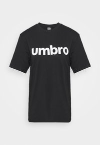 LINEAR LOGO GRAPHIC TEE - Print T-shirt - black