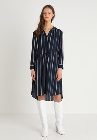 Selected Femme - SFDAMINA 7/8 DRESS  - Shirt dress - dark sapphire - 0