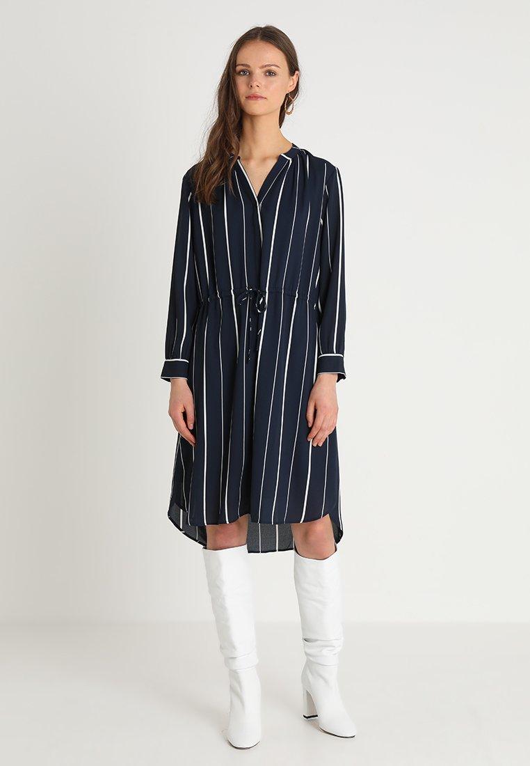 Selected Femme - SFDAMINA 7/8 DRESS  - Shirt dress - dark sapphire