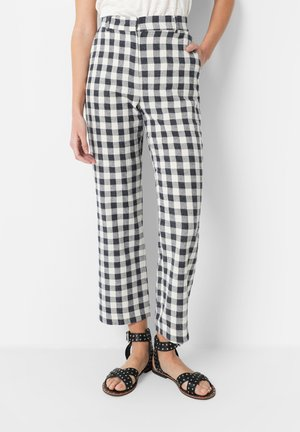 GINGHAM  - Trousers - navy