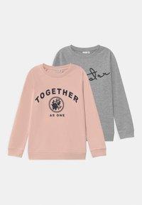 Name it - NKFVEDA 2 PACK - Sweatshirt - grey melange - 0