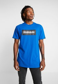 Napapijri The Tribe - SOX CHECK  - T-shirt med print - blue snorkel - 0