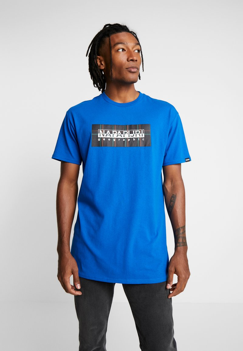 Napapijri The Tribe - SOX CHECK  - T-shirt med print - blue snorkel