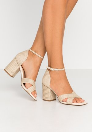 BRAIDED  - Sandals - natural