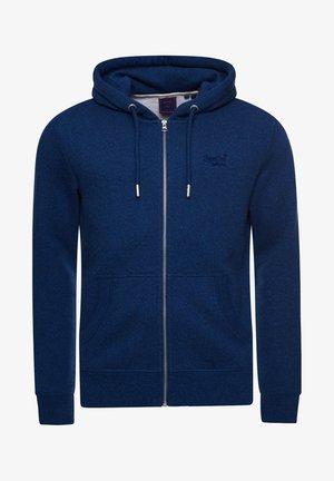 VINTAGE LOGO EMBROIDERED - Zip-up sweatshirt - bright blue marl