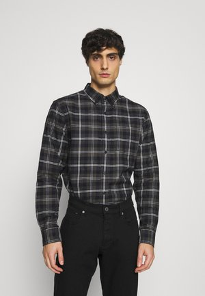 STRIPED PLAID - Skjorta - dark charcoal