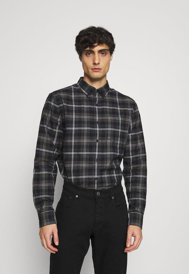 STRIPED PLAID - Camisa - dark charcoal