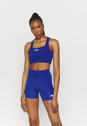 PAMELA REIF X PUMA SQUARE NECK BRA - Medium support sports bra - mazerine blue