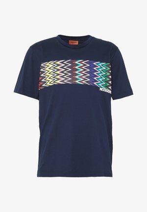 SHORT SLEEVE - Print T-shirt - dark blue