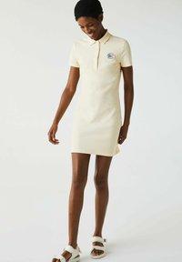 Lacoste - JURK - Shift dress - beige - 1