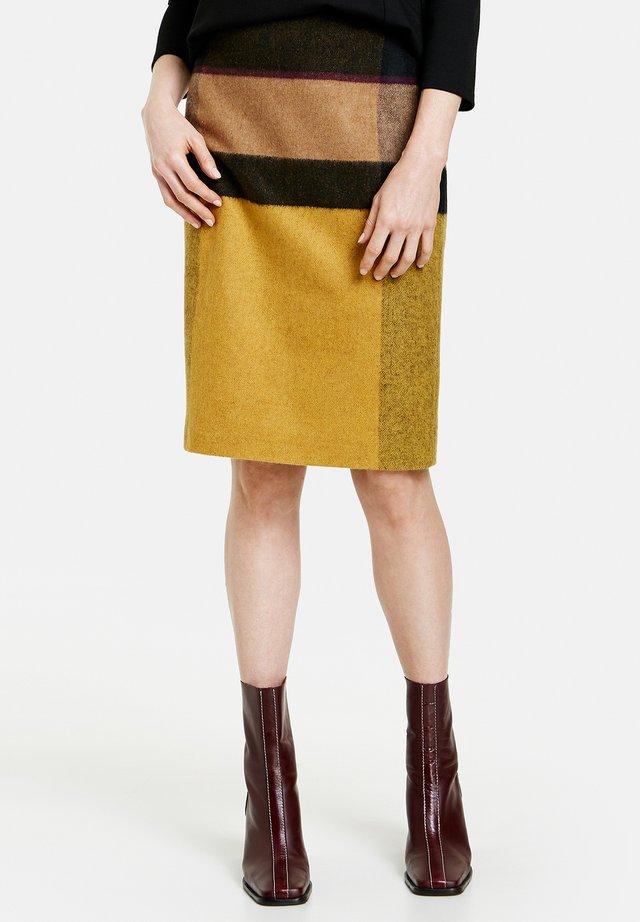 A-line skirt - schwarz camel honig