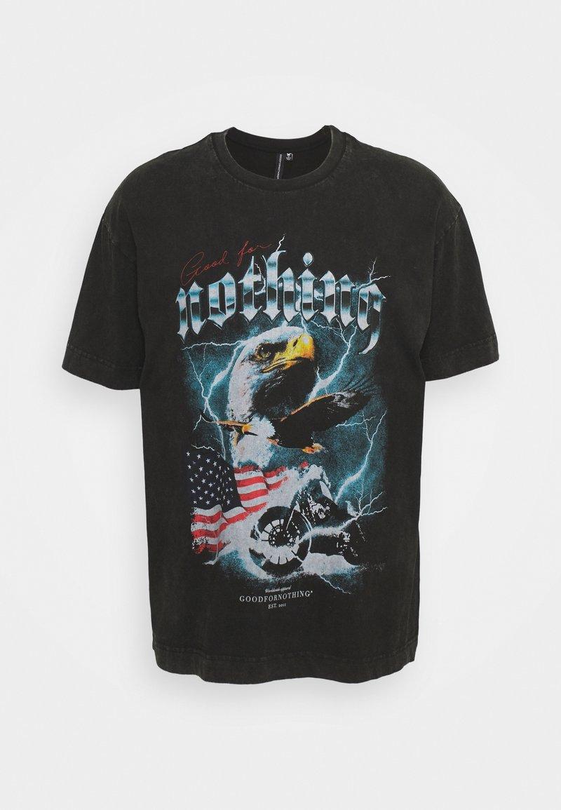 Good For Nothing - OVERSIZED ACID WASH EAGLE UNISEX - Print T-shirt - grey