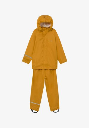 BASIC RAINWEAR SET UNISEX - Veste imperméable - mineral yellow