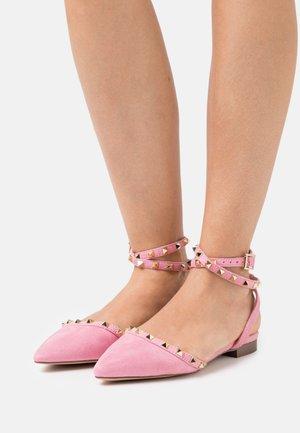 LAURENA - Ankle strap ballet pumps - pink