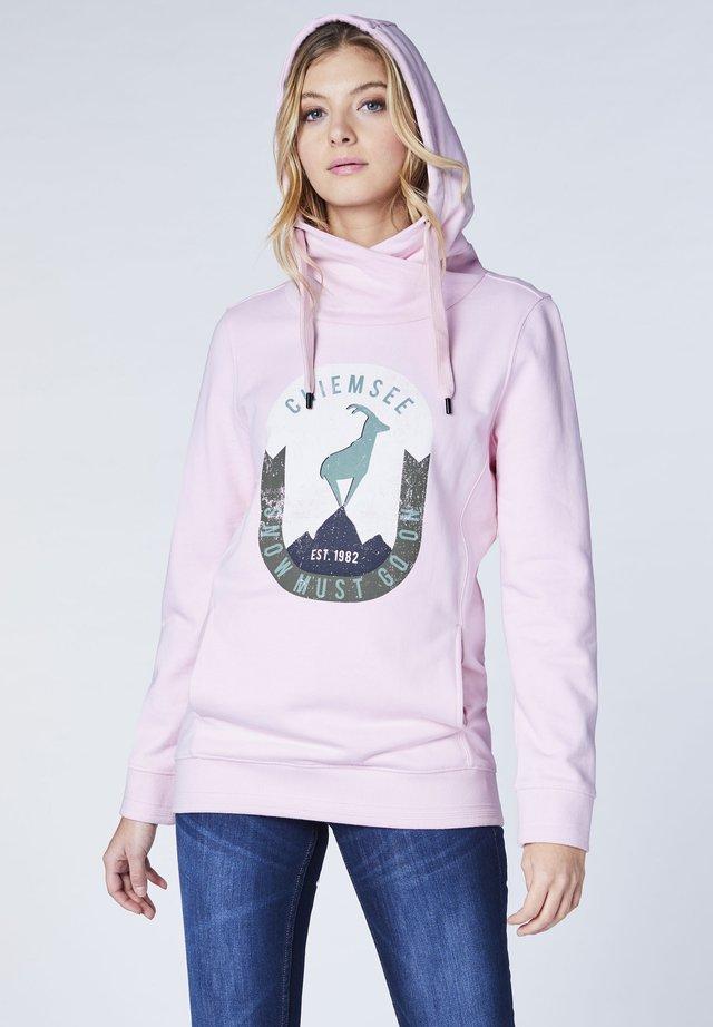 MIT INTEGRIERTER - Hoodie - pink lady