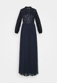 Maya Deluxe - BISHOP SLEEVE DELICATE SEQUIN  WITH KEYHOLE - Ballkjole - navy - 0