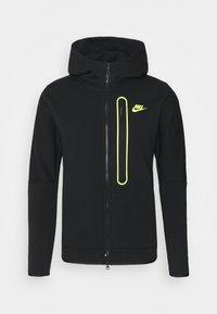 Nike Sportswear - HOODIE - Zip-up hoodie - black/volt - 0