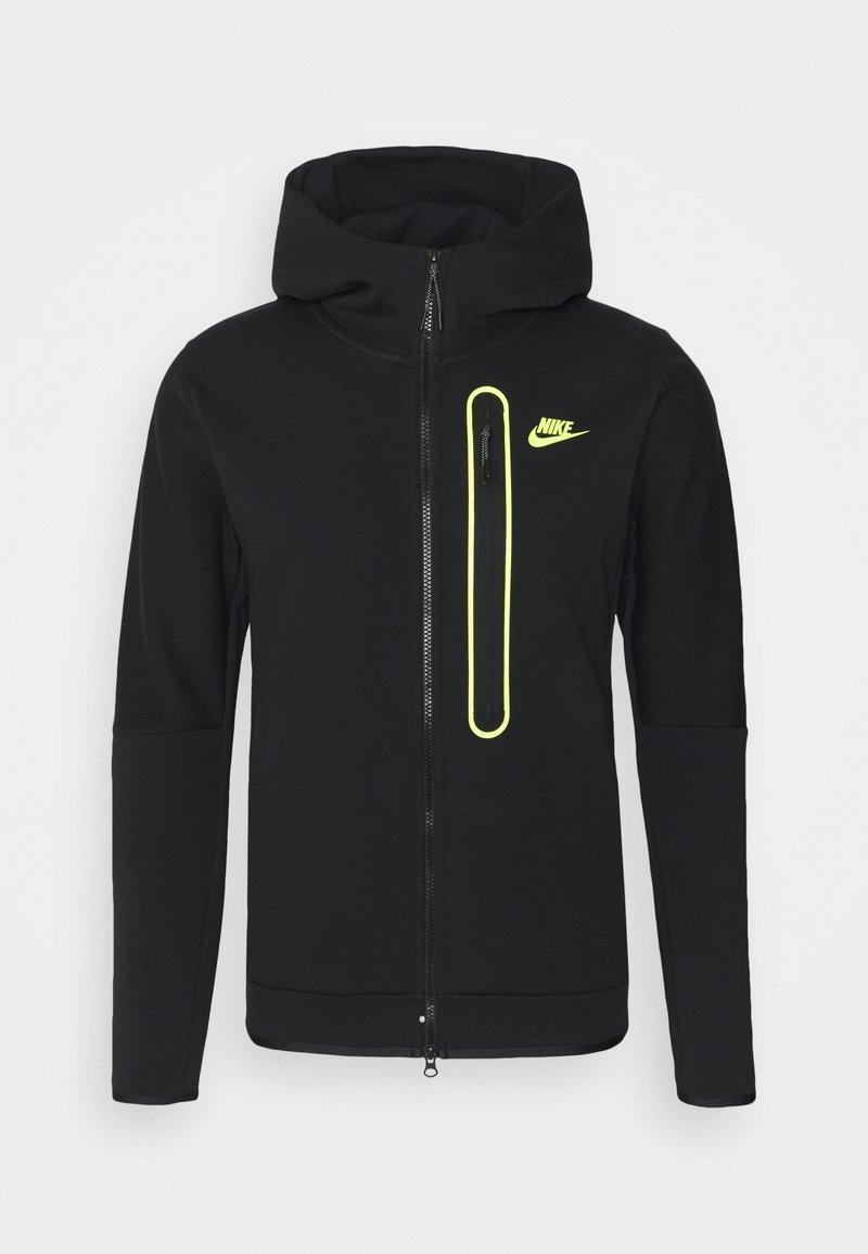 Nike Sportswear - HOODIE - Zip-up hoodie - black/volt